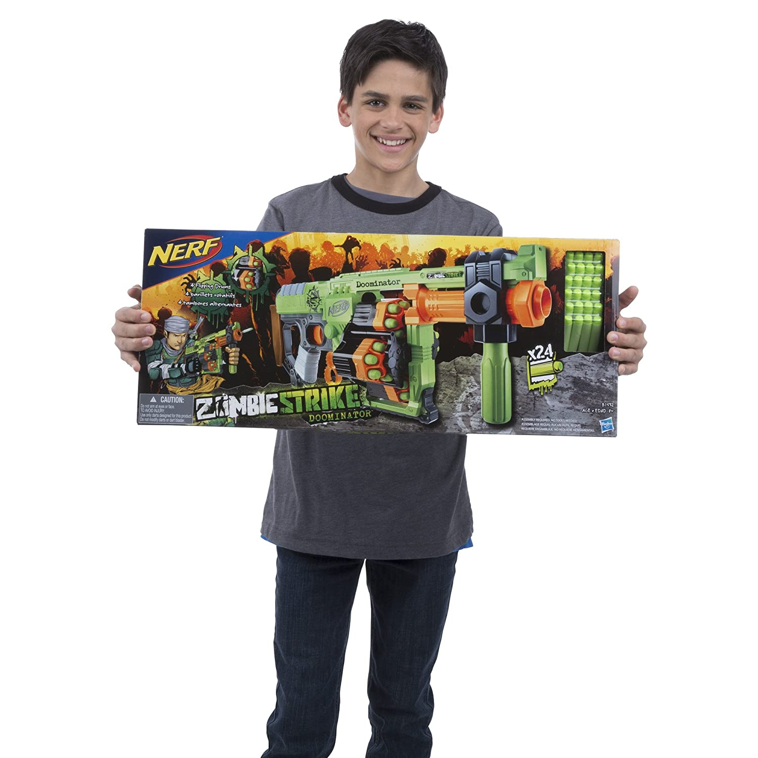 Buy Nerf Zombie Strike Doominator Blaster Online at Low Prices in India -  Amazon.in