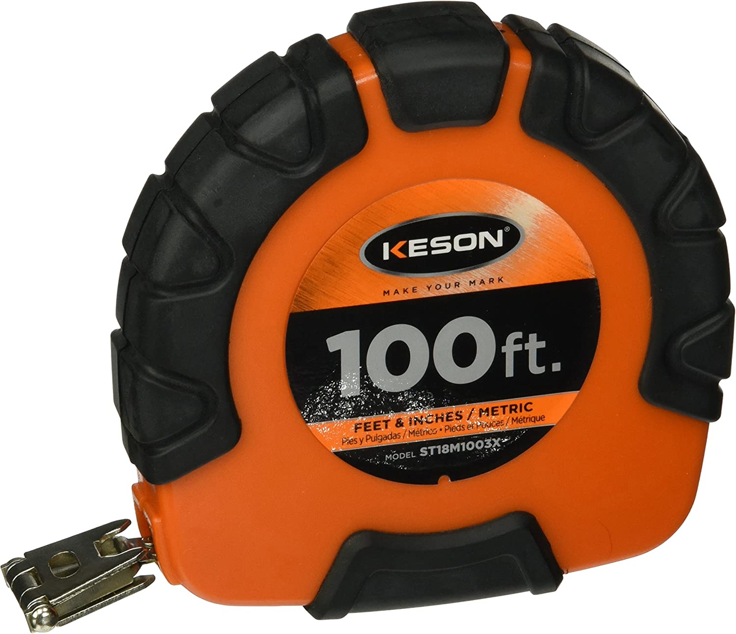 "Keson 3//8"" Nylon Clad Steel Tape English 100'"
