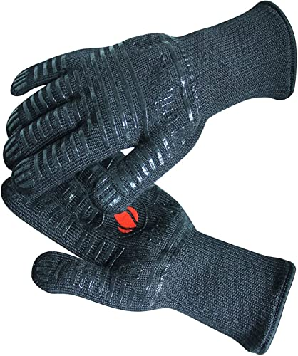 Grill Heat Aid BBQ Gloves Heat Resistant 1,472℉ Extreme. Kitchen Dexterity Handle Oven Cooking Hot Food on Cast Iron, Baking, Barbecue, Smoker
