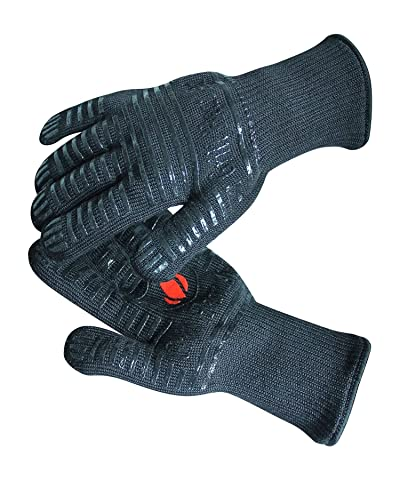 GRILL HEAT AID Extreme Heat Resistant BBQ Gloves. HighDexterity Handling Hot Food Right on Cast Iron