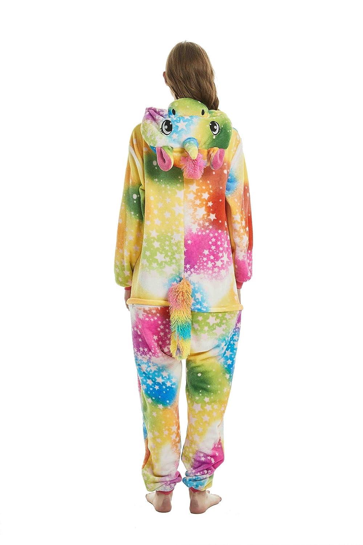Tuopuda Pijamas Unicornio Unisexo Adulto Traje Disfraz Pijamas de Animales Enteros Cosplay Animales de Vestuario Ropa de Dormir Halloween y Navidad: ...