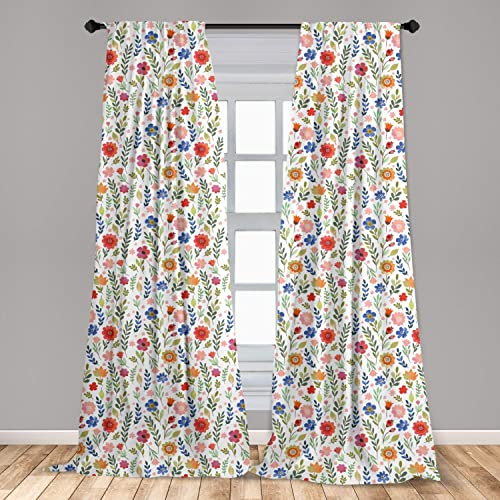 Ambesonne Watercolor Window Curtains