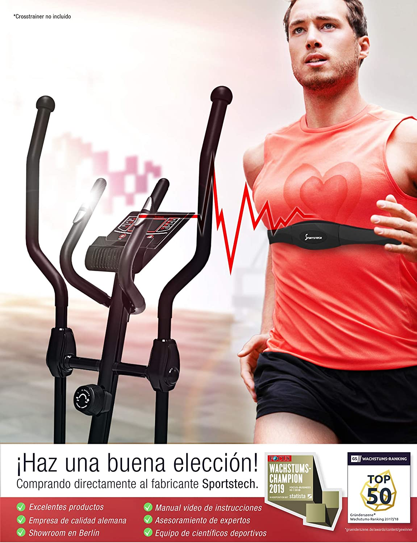Sportstech Pulsómetro Pecho para Entrenamiento de frecuencia ...