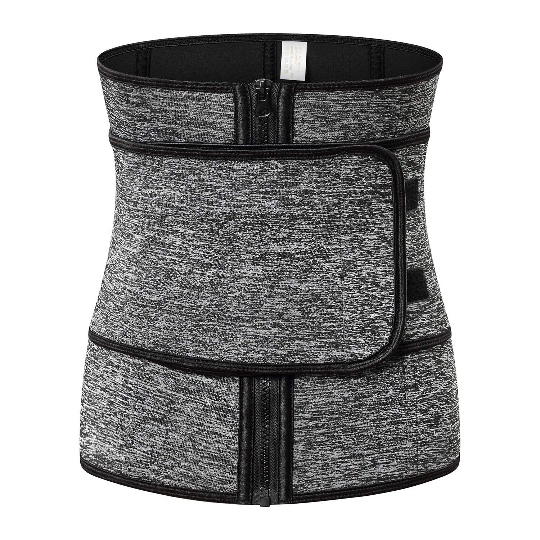 d085f0b91e QuuuBava High Waist Trainer for Weight Loss Women Girdle Trimmer Belt  Cincher Corset Sauna Sweat Suit