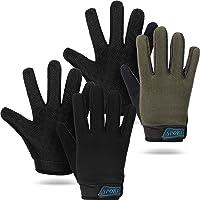 2 Pairs Kids Cycling Gloves Children Sport Gloves Full Finger Fishing Gloves Breathable Non-Slip Children Bike Gloves…