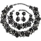 Holylove 9 Colors Vintage Statement Choker Necklace/Bracelet/Earings