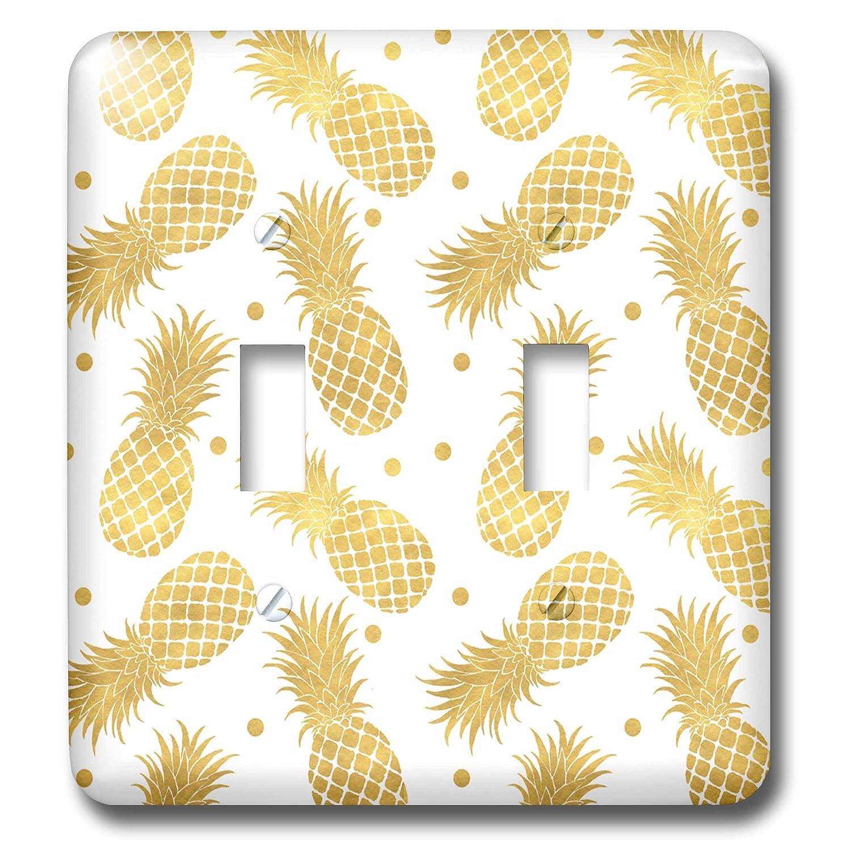 3dRose lsp/_271078/_2 Picturing Gold Glitz Confetti Pineapples Toggle Switch Multicolor