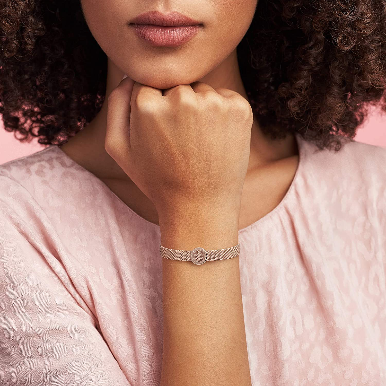 Amazon.com: Pandora Jewelry Reflexions Logo Circle Clip Charm ...