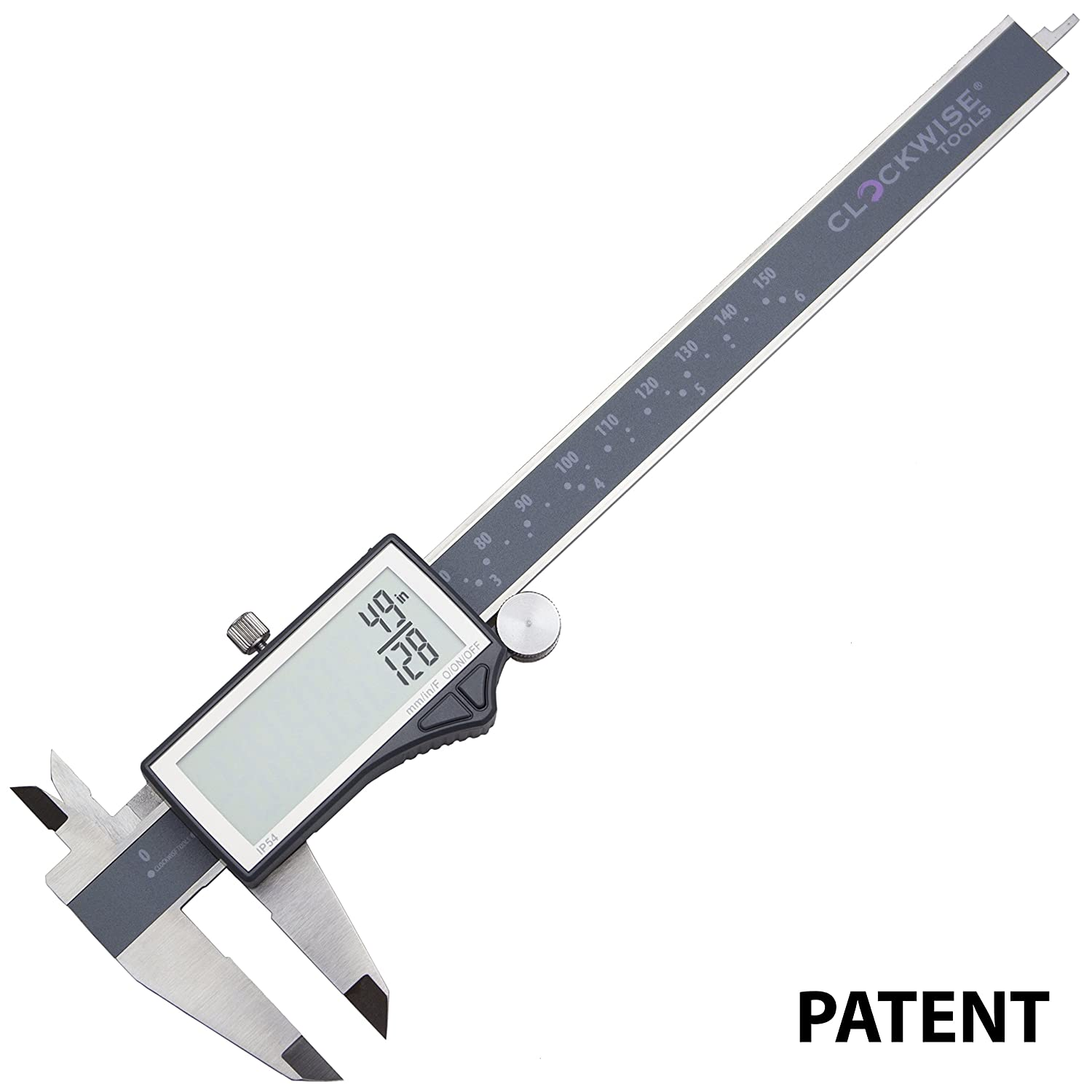 Amazon clockwise tools dclr 0605 electronic digital caliper amazon clockwise tools dclr 0605 electronic digital caliper inchmetric fractions conversion ip54 protection 0 6 inch150 mm stainless steel body super nvjuhfo Images