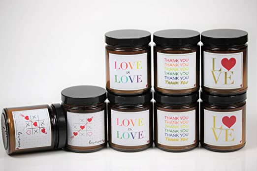Amazon Com Love Scented Candle Collection Thank You Jasmine Shiso Home Kitchen