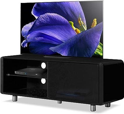 MDA Designs Amalfi - Mueble para televisor con pantalla plana de 32 a 55 pulgadas, color negro: Amazon.es: Electrónica