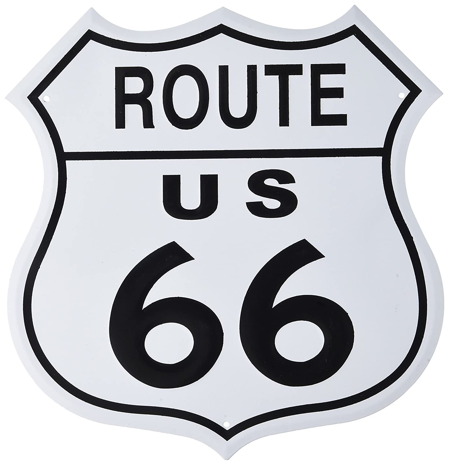 Amazon.com: Adorox US Route 66 escudo cartel de chapa