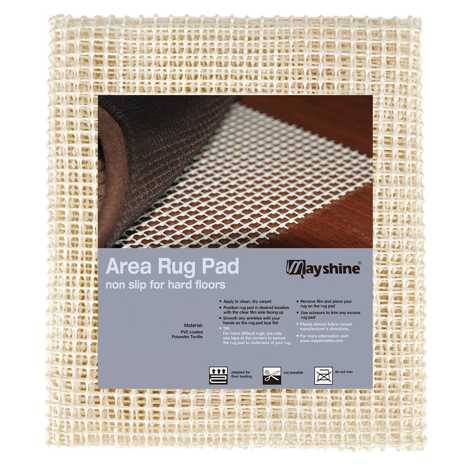 MAYSHINE Area Rug Gripper Pad (3x5 Feet), for Hard Floors, Provides Protection and Cushion for Area Rugs and Floors