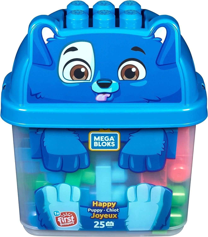 Mega Bloks Perroblok, Bloques Construcción Juguetes Bebés 1 Año (Mattel GFH49) , color/modelo surtido