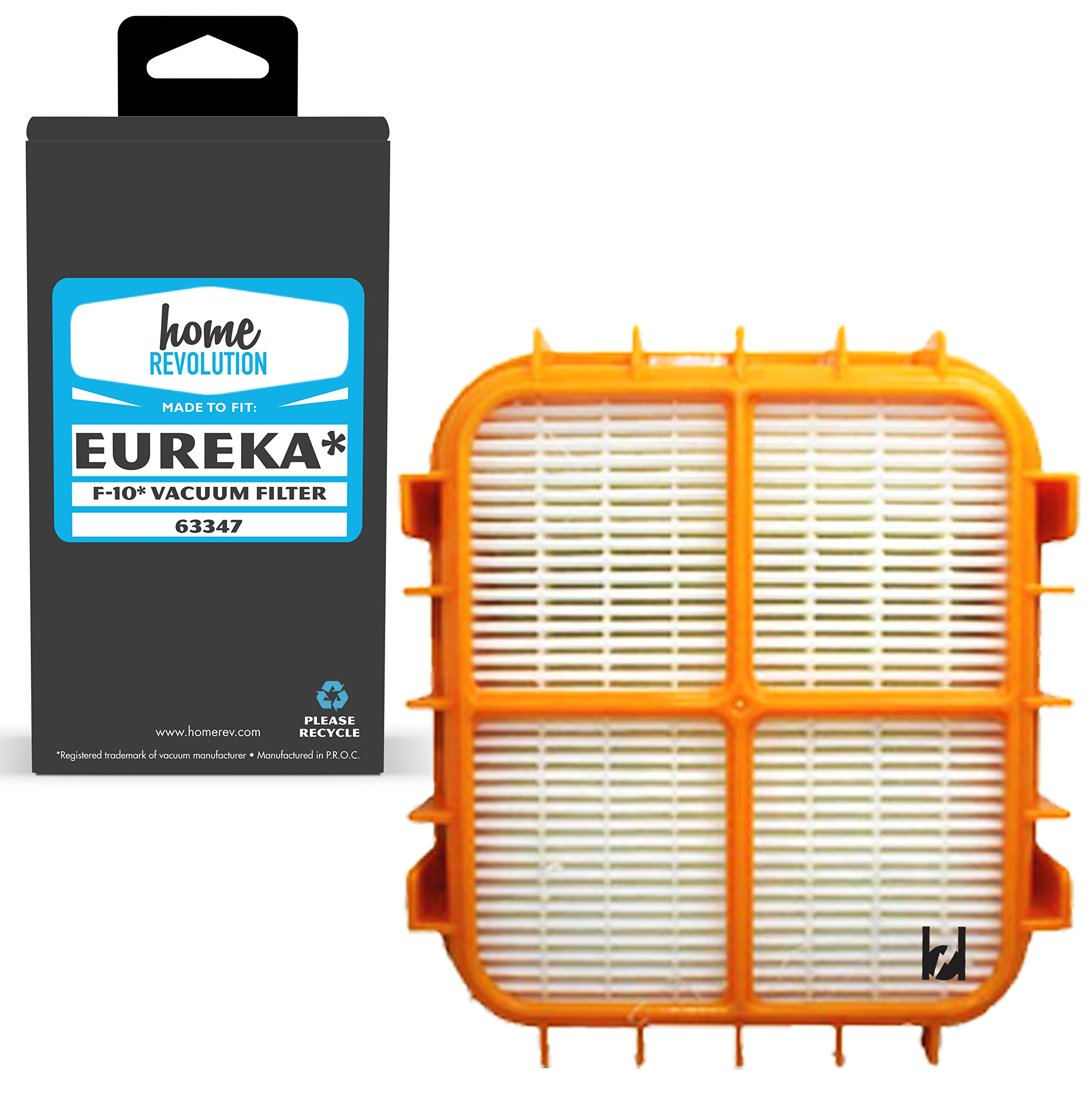Home Revolution Replacement HEPA Filter, Fits Eureka HF-10 Upright Vacuum Cleaner, Boss Capture and Pet Love Models and Part 63347, 63347-4, 77973.