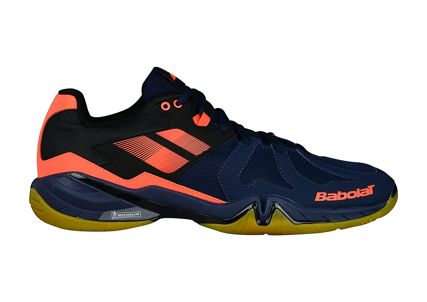 Babolat 2018 Shadow Spirit Men's Shoe, Badminton/Racquetball/Squash/Indoor Tennis - Navy Blue/Fluo Orange B07BMWGKRQ 7.5 B(M) US