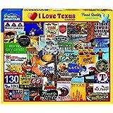 I Love Texas 1000 Piece Jigsaw Puzzle - White Mountain
