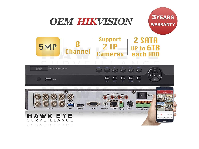 Amazon com : HD TVI 5MP 8CH DVR - Surveillance Digital Video