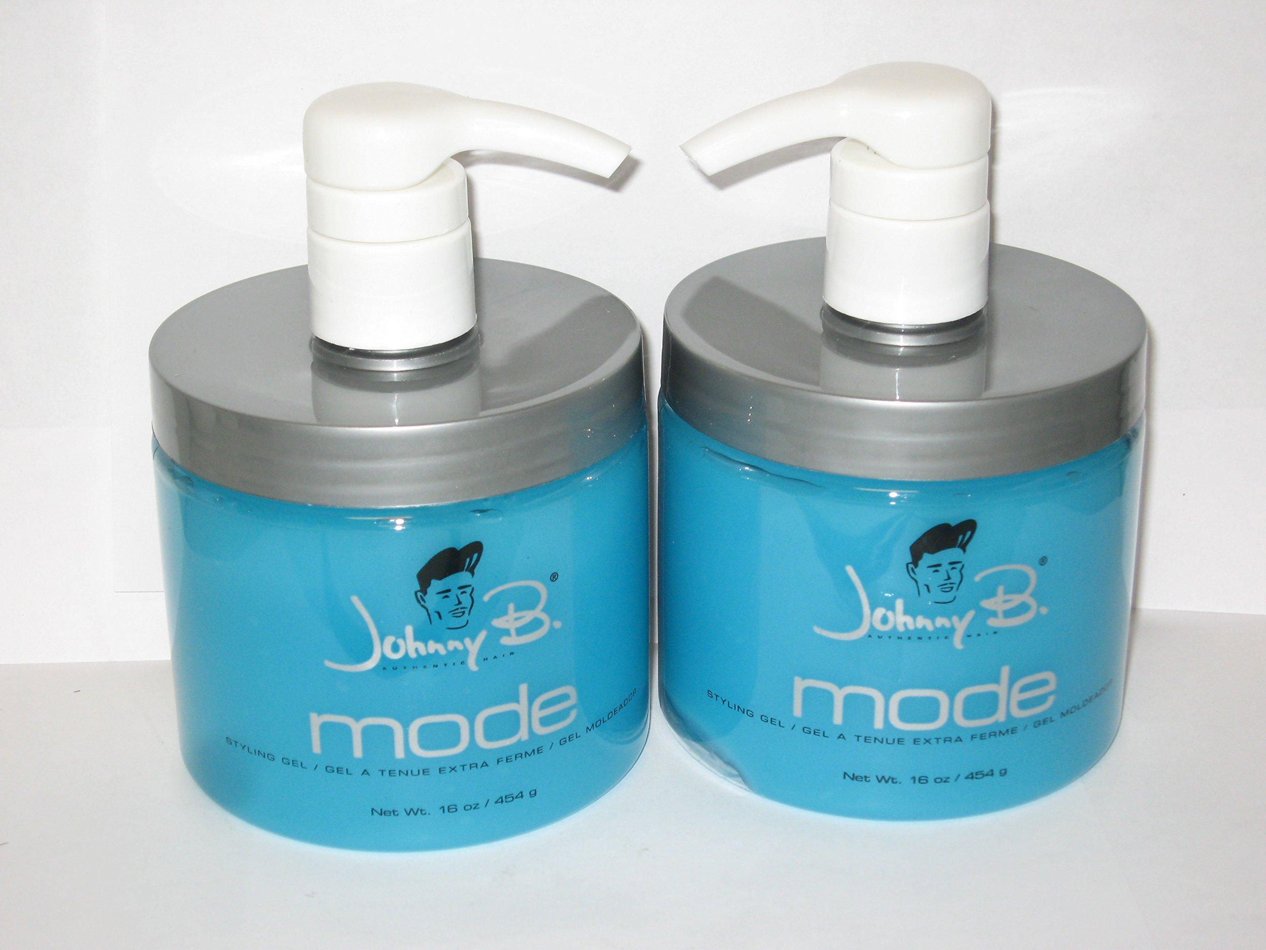 Johnny B Mode Styling Gel 16 Oz (Buy ONE GET ONE Free) (With Pump) (Pack of 2)