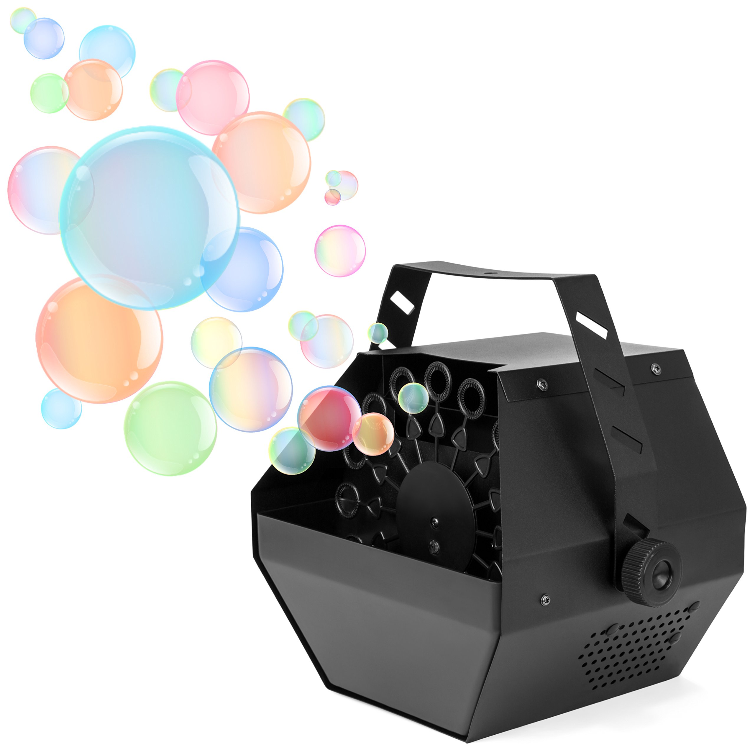 Best Choice Products Professional Portable Metal Automatic Bubble Machine with High Output, Black