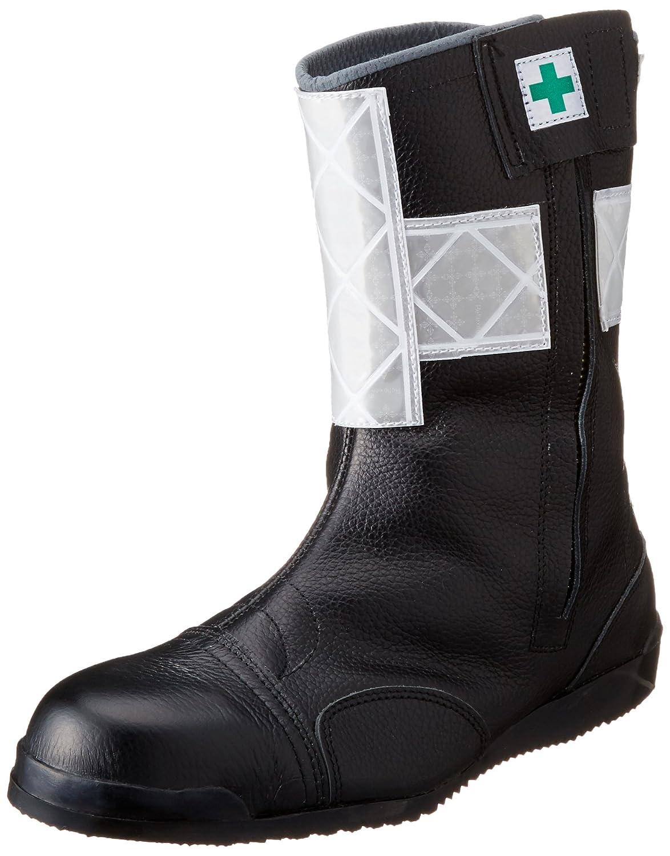 [ノサックス] Nosacks 高所用安全靴 みやじま鳶半長靴 高輝度反射付 白色 B0191FKOHI JP JP27cm(27cm) ブラック