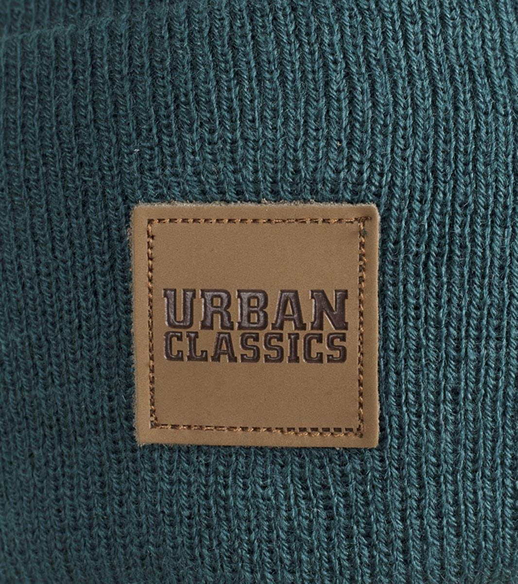 Urban Classics Leatherpatch Long Beanie Gorro de Punto Unisex Adulto