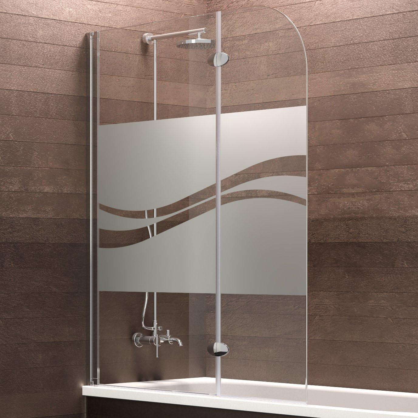 Schulte Mampara de bañera Cristal (2 piezas, 140 x 112 cm Hamburgo ...