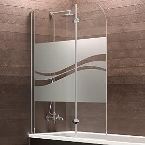 Schulte Mampara de bañera Cristal (2 piezas, 140 x 112 cm Hamburgo, 1 pieza, 4056397002505: Amazon.es: Bricolaje y herramientas