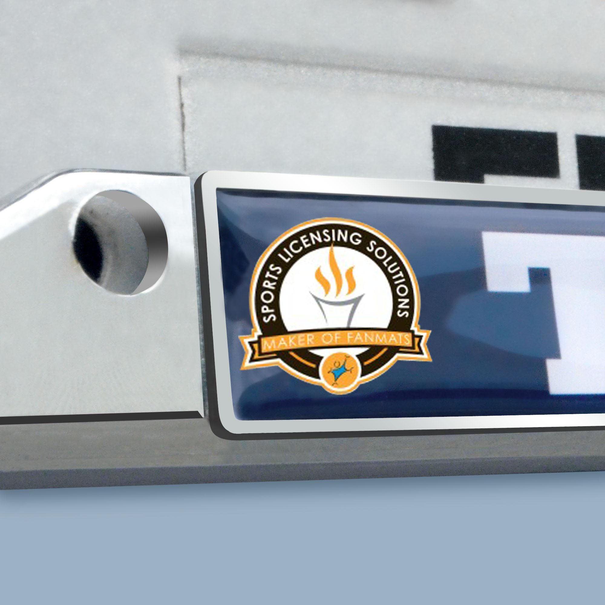 FANMATS NCAA University of Michigan Wolverines Chrome License Plate ...