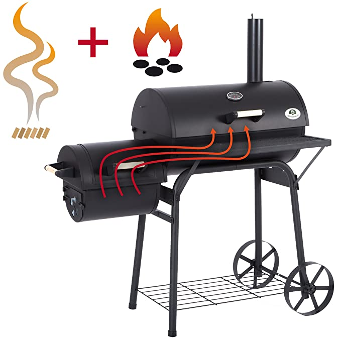 Barbecue Américain Smoker Fumoir Double Compartiment Grill To Rank First Among Similar Products Yard, Garden & Outdoor Living Home & Garden