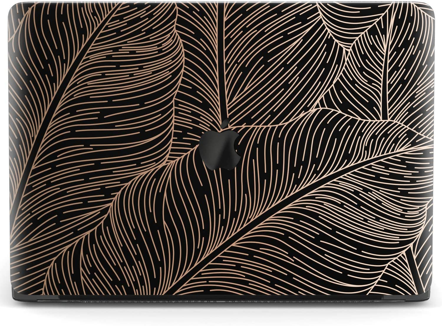 Mertak Hard Case Compatible with MacBook Pro 16 Air 13 inch Mac 15 Retina 12 11 2020 2019 2018 2017 Black Clear Abstract Protective Luxury Touch Bar Cover Tropical Print Leaf Leaves Palm Laptop