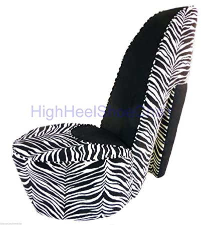 Genial Zebra And Black High Heel Shoe Chair