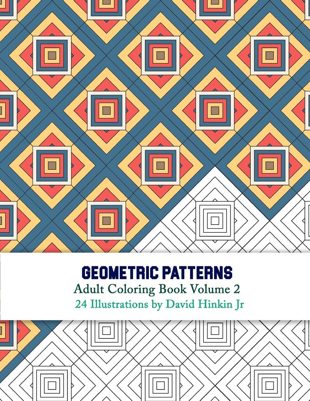 Amazon Com Geometric Patterns Adult Coloring Book Volume