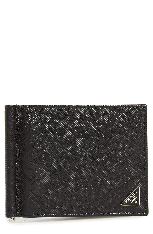 [プラダ] メンズ 財布 Prada Saffiano Leather Money Clip Wallet [並行輸入品] B07SG87MWT  One-Size