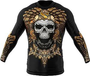 SMMASH Aztec Rashguard Hombre Manga Larga, Camisetas