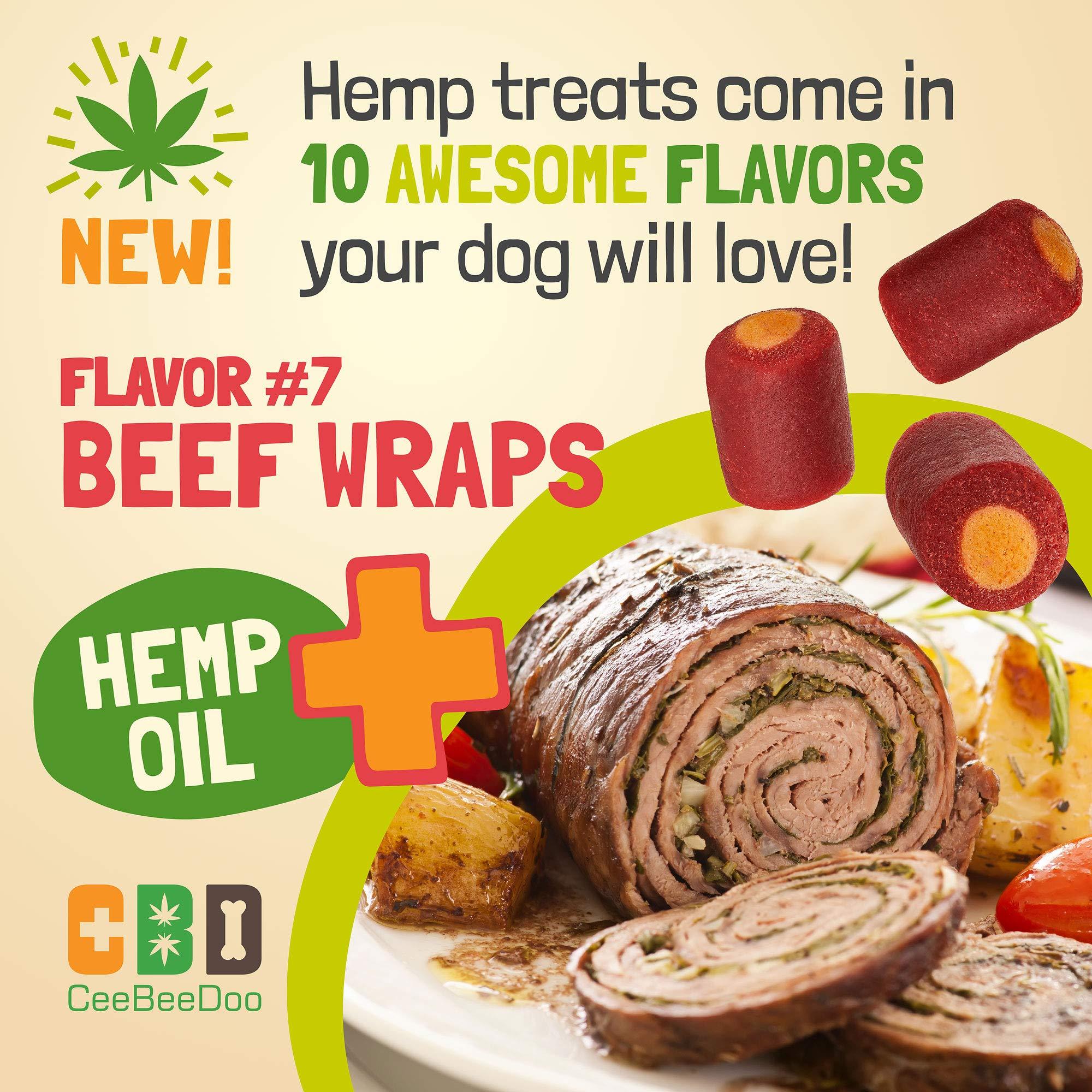 Ceebeedoo Dog Treats With Hemp Oil For Pain Relief