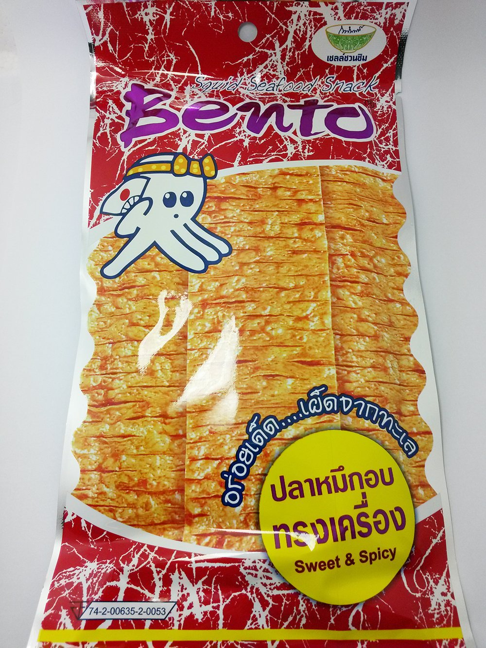 Bento Squid Seafood Snack - Sweet and Spicy Flavoured - Dried Squid with Surimi Big Pack