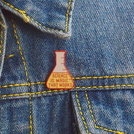 Ogquaton /Ciencia Cubilete Insignia Broche Forma de cubilete Dibujos animados Pin creativo Ropa de moda Accesorios para mujeres Durable y pr/áctico