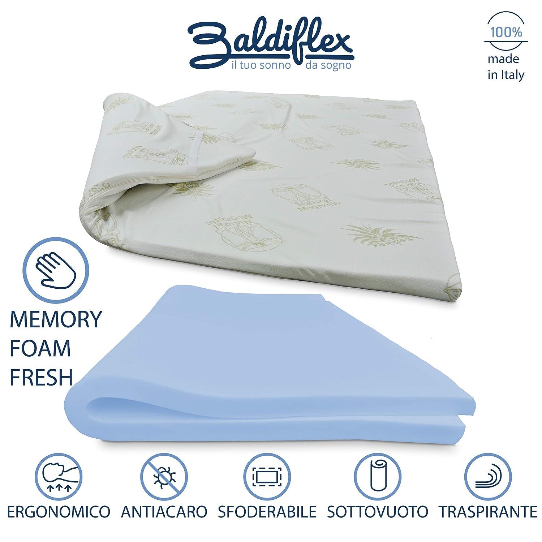 Baldiflex- Colchón con Sistema Corrector de Postura in Memory Topper. Individual 80 x 190 h 3- Forro de Aloe Vera: Amazon.es: Hogar