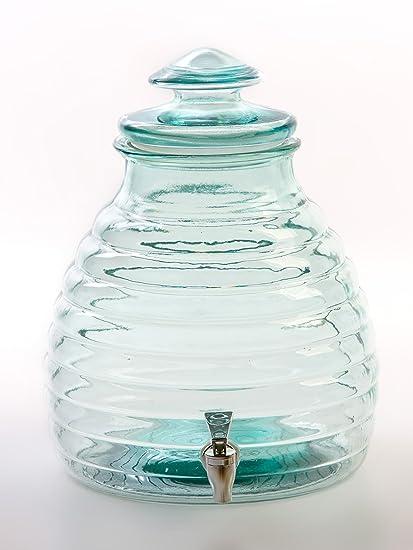 Gale Hayman Style SS1003 - Dispensador de bebida, vidrio reciclado, grifo y tapa con