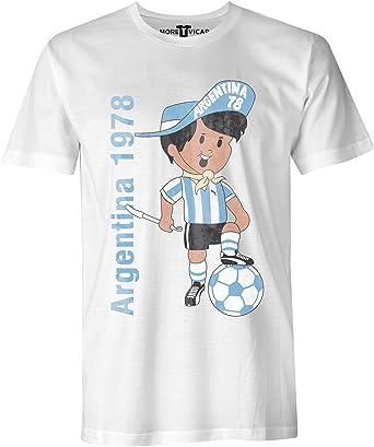 More T Vicar Argentina 78 Vendimia - Copa Mundial de Fútbol de la Camiseta - Hombre: Amazon.es: Ropa y accesorios