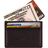 Card Holder Genuine Leather - Minimalist Slim Thin Front Pocked Wallet - Gift Box