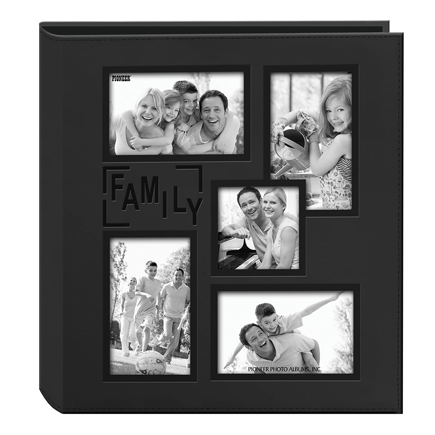 Pioneer Sewn Embossed Collage Frame 5-Up Photo Album 12