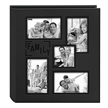 amazon com pioneer sewn embossed collage frame 5 up photo album 12