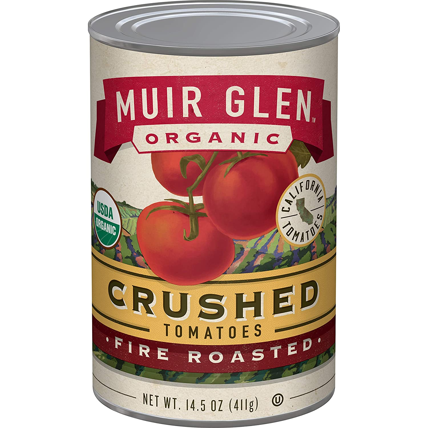 Muir Glen, Organic Crushed Fire Roasted Tomatoes, 14.5 oz
