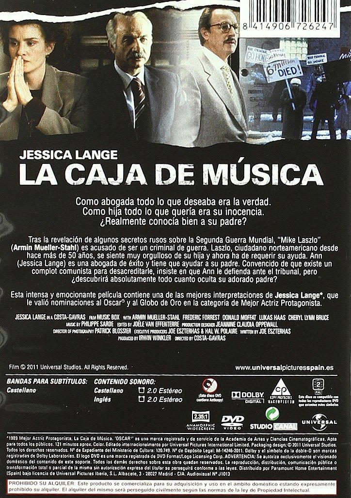 Amazon.com: La Caja De Música (Import Movie) (European Format - Zone 2) (2011) Jessica Lange; Armin Mueller Stahl; Fred: Movies & TV