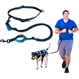 MAXiLEASH - Reflective Hands Free Dog Leash with Dual-Handle Bungee Cord for Running, Walking, Hiking and Biking - Perfect for Large or Medium Dogs