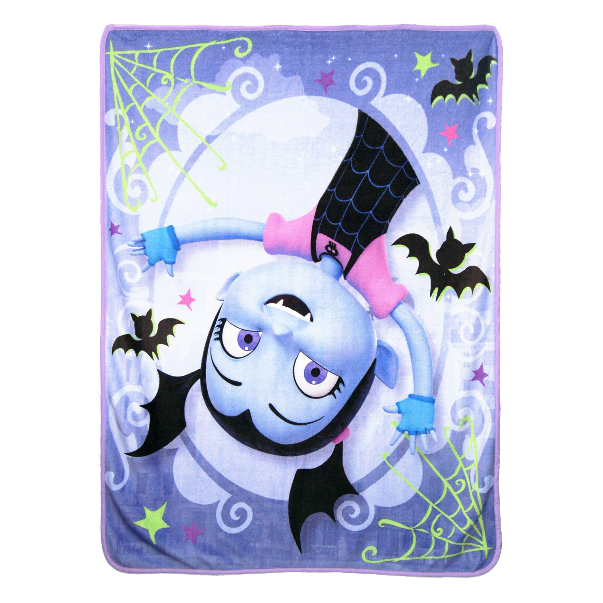 Disney's Vampirina, ''Batty Vee'' Micro Raschel Throw Blanket, 46'' x 60'', Multi Color