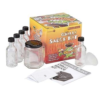 Kit de salsas Monster Chilli - Cultive sus propias plantas de chile y haga sus propias salsas, con aplicación gratuita para iphone / android: Amazon.es: ...