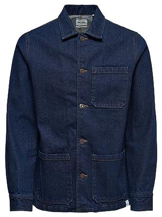 Bleu amp; 22009049blue Veste Sons Coton Homme Only gv7zxnw